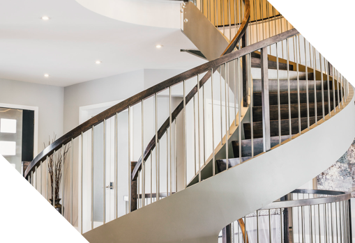 newly built spiral staircase