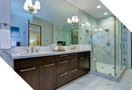 newly renovated walk-in shower