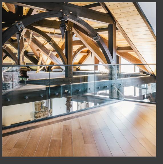 glass railings in home